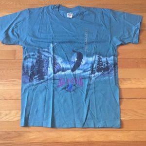 VINTAGE Alaska eagle tshirt single stitched